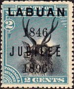 Labuan 1896 Jubilee of Cession Overprint SG 84 Good Mint