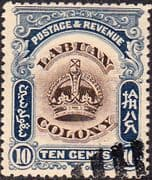 Labuan 1902 Crown Colony SG 122 Fine Used