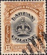 Labuan 1902 Crown Colony SG 125 Fine Used