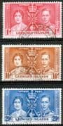 Leeward Islands 1937 King George VI Coronation Set Fine Used
