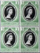 Leeward Islands Queen Elizabeth II 1953 Coronation Fine Mint Block of 4