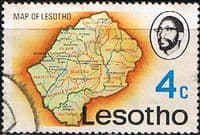 Lesotho 1976 SG 302 Map Fine Used