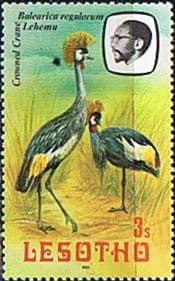 Lesotho 1981 Birds SG 439 South African Crowned Crane Fine Used