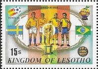 Lesotho 1982 SG 485 World Cup Football Fine Mint