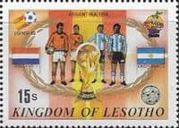 Lesotho 1982 SG 490 World Cup Football Fine Mint