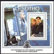 Lesotho 1986 Royal Wedding Miniature Sheet Fine Mint