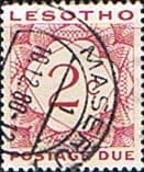 Lesotho Post Due 1976 SG D17 Fine Used