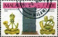 Malawi 1982 Remembrance Day SG 664 Fine Used