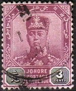 Malay State of Johore 1904 SG 63 Sultan Sir Ibrahim Fine Used