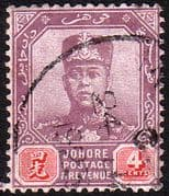 Malay State of Johore 1918 SG 91 Sultan Sir Ibrahim Fine Used