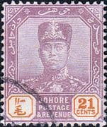 Malay State of Johore 1918 SG 94 Sultan Sir Ibrahim Fine Used