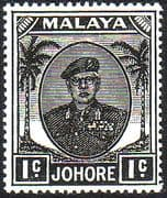 Malay State of Johore 1949 SG 133 Sultan Sir Ibrhim Fine Mint