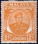 Malay State of Johore 1949 SG 134 Sultan Sir Ibrhim Fine Mint