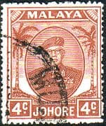 Malay State of Johore 1949 SG 136 Sultan Sir Ibrhim Fine Used