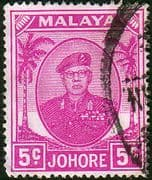 Malay State of Johore 1949 SG 136a Sultan Sir Ibrhim Fine Used