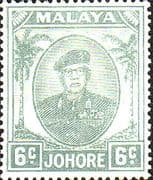 Malay State of Johore 1949 SG 137a Sultan Sir Ibrhim Fine Mint