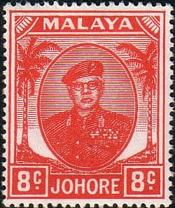 Malay State of Johore 1949 SG 138 Sultan Sir Ibrhim Fine Mint