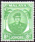 Malay State of Johore 1949 SG 138a Sultan Sir Ibrhim Fine Mint