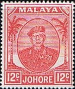 Malay State of Johore 1949 SG 139a Sultan Sir Ibrhim Fine Mint