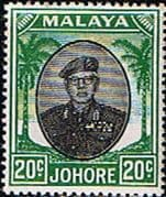 Malay State of Johore 1949 SG 141 Sultan Sir Ibrhim Fine Mint