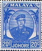 Malay State of Johore 1949 SG 141a Sultan Sir Ibrhim Fine Mint