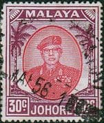 Malay State of Johore 1949 SG 142a Sultan Sir Ibrhim Fine Used