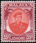 Malay State of Johore 1949 SG 142b Sultan Sir Ibrhim Fine Mint