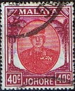 Malay State of Johore 1949 SG 143 Sultan Sir Ibrhim Fine Used