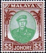 Malay State of Johore 1949 SG 147 Sultan Sir Ibrhim Fine Mint