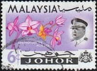 Malay State of Johore 1965 Flowers SG 169 Fine Used
