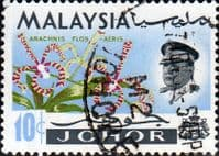 Malay State of Johore 1965 Flowers SG 170 Fine Used
