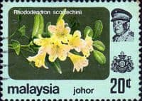Malay State of Johore 1979 Flowers SG 193 Fine Used