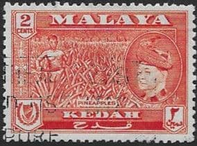 Malay State of Kedah 1957 SG 93 Pineapples Fine Used