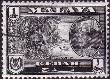 Malay State of Kedah 1959 SG 104 Copra Fine Used
