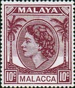 Malay State of Malacca 1954 Queen Elizabth II SG  29 Fine Mint