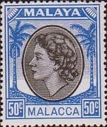 Malay State of Malacca 1954 Queen Elizabth II SG  35 Fine Mint