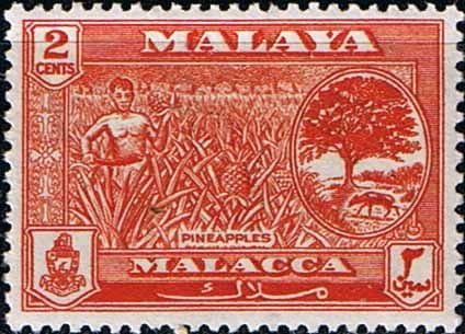 Malay State of Malacca 1960 SG 51 Pineapples Fine Mint