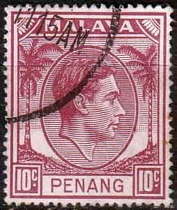 Malay State of Penang 1949 SG 11 King George VI Head Fine Used