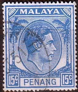 Malay State of Penang 1949 SG 13 King George VI Head Fine Used