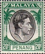 Malay State of Penang 1949 SG 14 King George VI Head Fine Mint