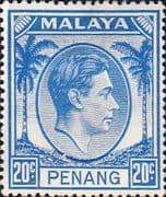 Malay State of Penang 1949 SG 15 King George VI Head Fine Mint
