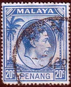 Malay State of Penang 1949 SG 15 King George VI Head Fine Used