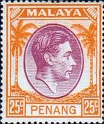 Malay State of Penang 1949 SG 16 King George VI Head Fine Mint