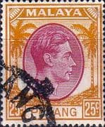 Malay State of Penang 1949 SG 16 King George VI Head Fine Used