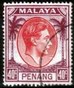 Malay State of Penang 1949 SG 18 King George VI Head Fine Used