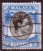 Malay State of Penang 1949 SG 19 King George VI Head Fine Used