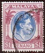 Malay State of Penang 1949 SG 20 King George VI Head Fine Used