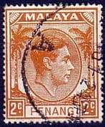 Malay State of Penang 1949 SG  4 King George VI Head Fine Used