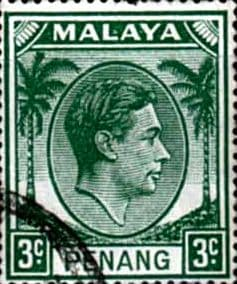 Malay State of Penang 1949 SG  5 King George VI Head Fine Used