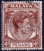Malay State of Penang 1949 SG  6 King George VI Head Fine Used